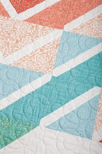 Close up of the Sew Radiant Quilt.
