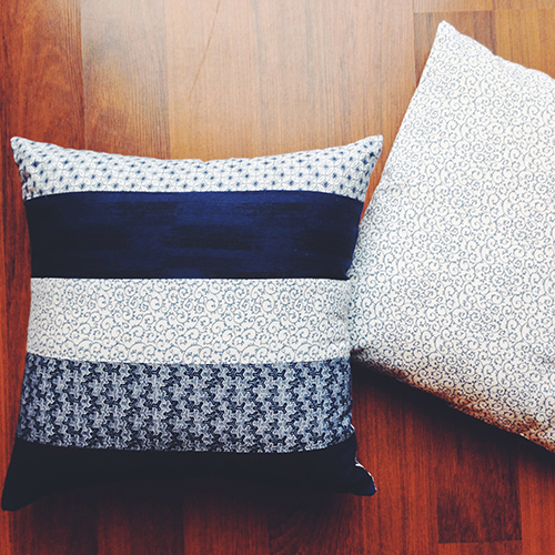 Indigo Patchwork pillows